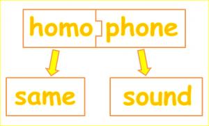 homophone-definition