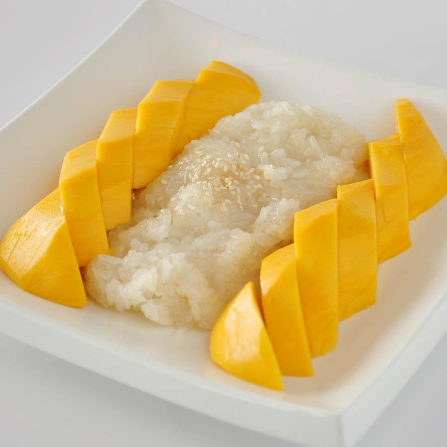 Mango with Sticky rice- Khȃo Nǐaw Má-mûang   Thai Language ...