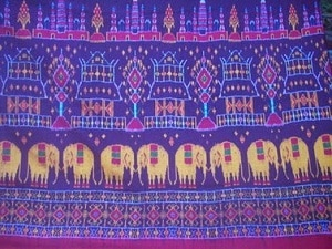 Mudmee ; Elephant pattern ผ้าไหมมัดหมี่ลายช้างสุรินทร์