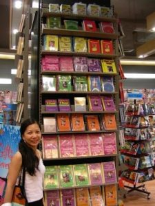 Benjawan Poomsan with her Thai Language books