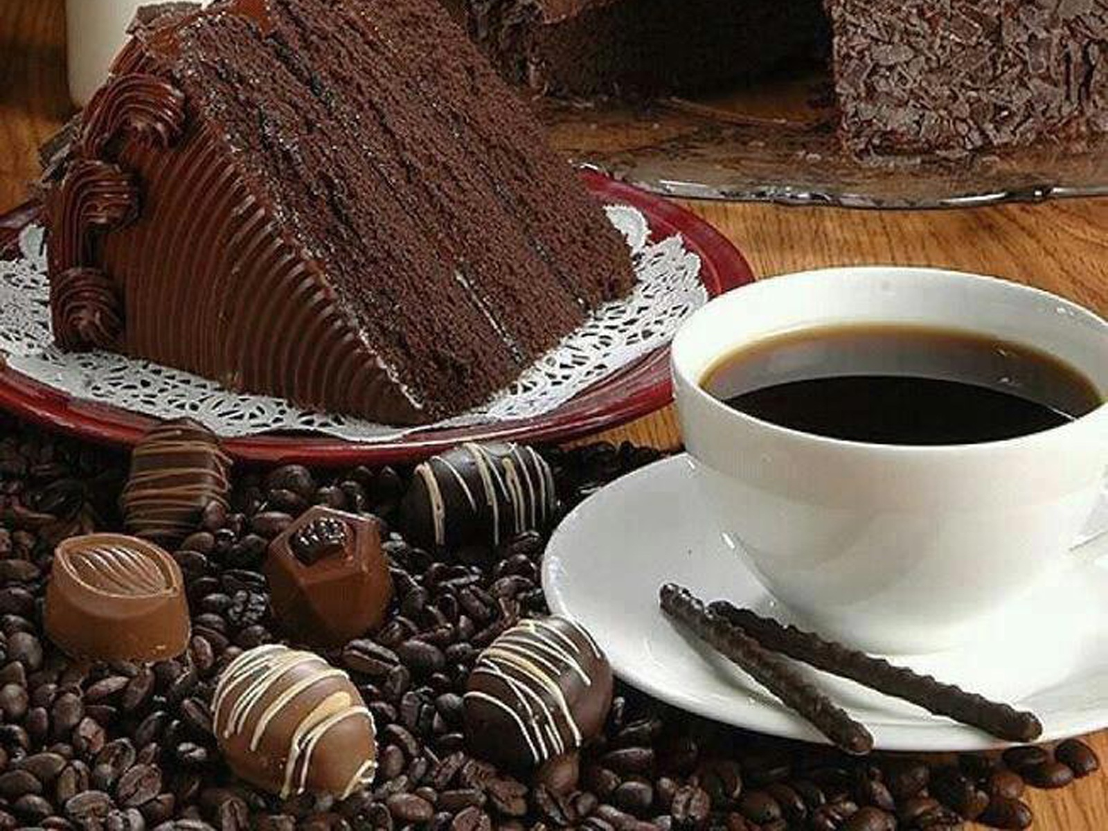 Coffee And Cake Wallpaper
