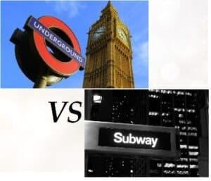 underground or subway