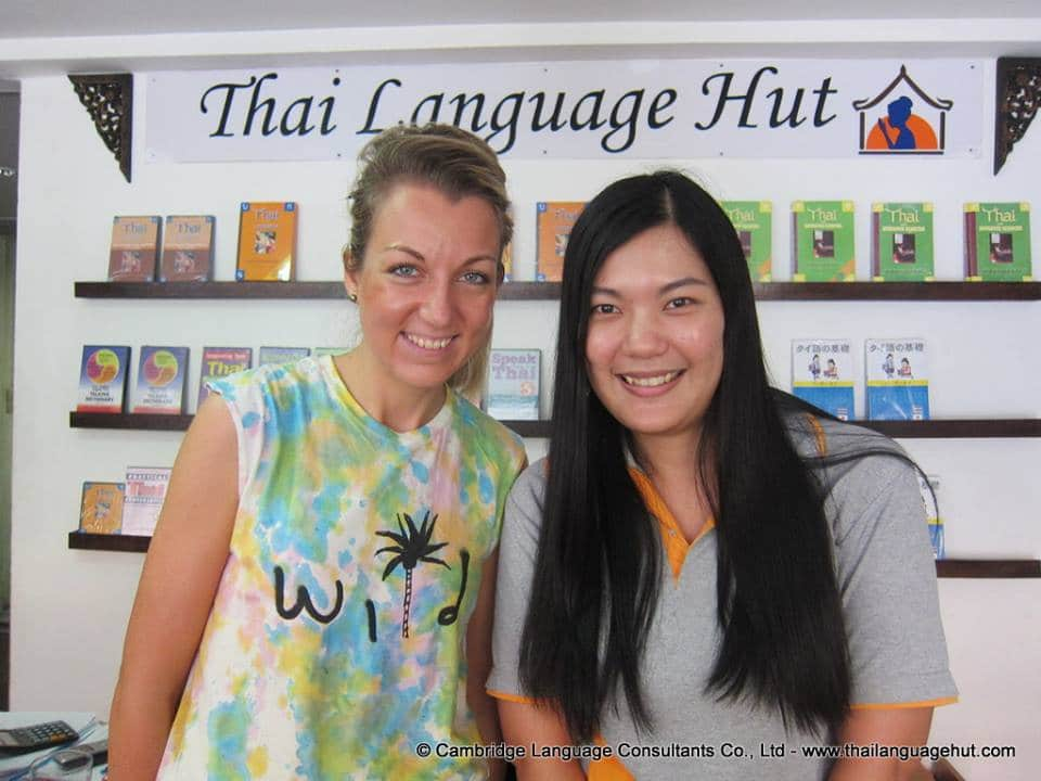 German Thai student with Teacher Jang