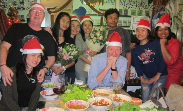 Xmas party with student and teachers at the school