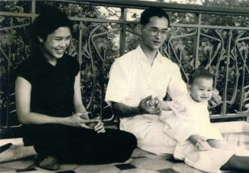 Thai King Rama X with Prince of Thailand