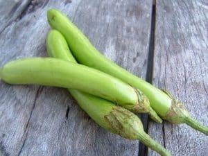 Eggplant Aubergine for yellow Thai Curry Recipe