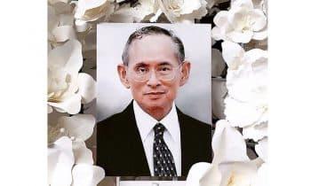 Mourning Thai King Rama IX