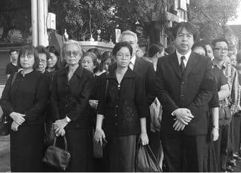 Thai Mourners in Black Dress