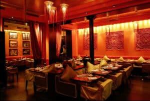 thai reservation table restaurant food book