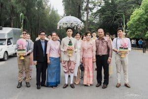 Thai Groom Awaiting the wedding procession | Thai Culture